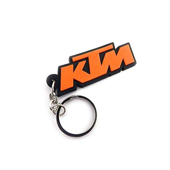 RaJ Single Sided KTM Logo Rubber Keychain for Car Bike Men Women Keyring