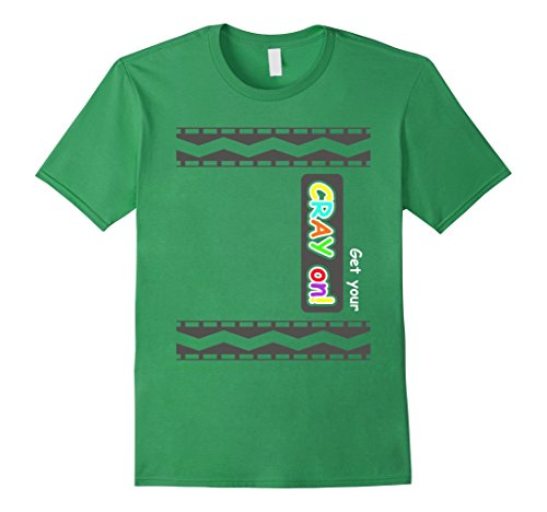 Normal Clothes Halloween Costume Ideas (Mens Get Your CRAY On shirt - Crayon Costume shirts 3XL Grass)