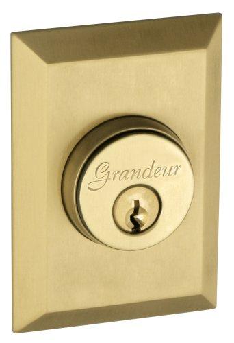 Grandeur GS60-FAVFAV-KD-VB Fifth Avenue Deadbolt, Single Cylinder, Vintage Brass Finish