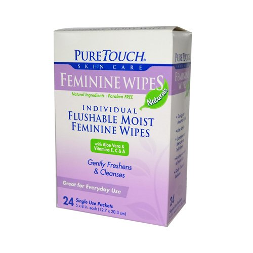 Puretouch Flushable Moist Feminine Wipes