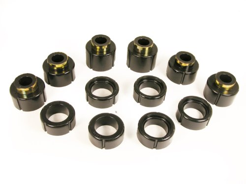 Prothane 7-112-BL Black Body and Standard Cab Mount Bushing Kit - 12 Piece