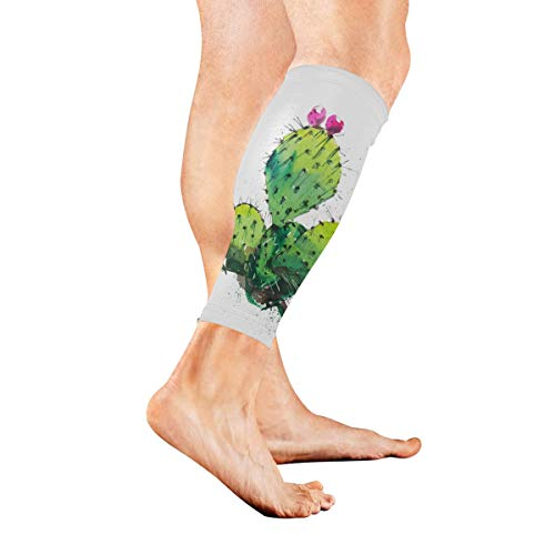 Used, Leg Sleeve Prickly Pear Cactus Watercolor Compression for sale  Delivered anywhere in USA
