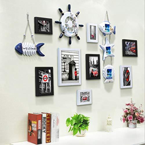PANGU-ZC Photo Frame Modern Minimalist Photo Wall Hemp Rope Clip Living Room Combination Photo Frame Wall Hanging Photo Frame -Photo Frame (Color : C)