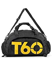 Sports Bags Gym Bag Black and Yellow