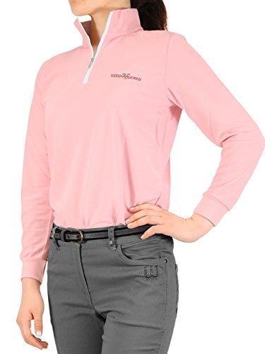 (ウッディワールド) WOODY WORLD レディース ゴルフ 吸汗速乾 鹿の子 ポロシャツ pc-604