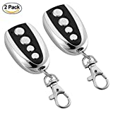 #9: Windfally Cloning/Duplicator Remote Control,Universal Garage Door Remote,Remote Relay Switch 433.9MHz Remote Control with Four Channel for Old Key Fob Replacement-2 Pack