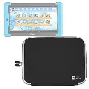 DURAGADGET Funda Negra De Neopreno Para Cefatronic Tablet Clan Pro / Kurio Tab 2 | Resistente Al Agua - Suave Al Tacto