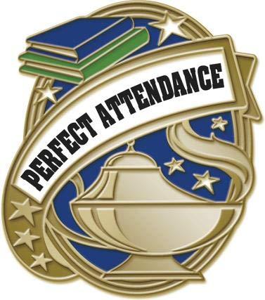 "1"" Gold Kudos Perfect Attendance Pins - School Attendance Lapel Pin Awards Prime"
