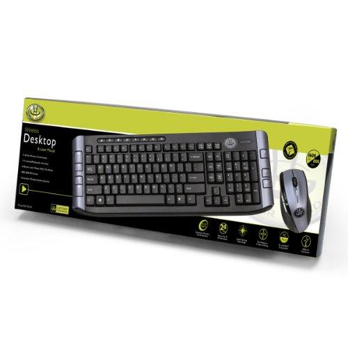 Wireless Keyboard and Laser Mouse (2.4GHz) (USB) Gear Head Wireless Keypad