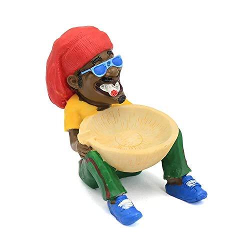 Brook Jamaican Ashtray Resin Ashtray Smok Man Chilling Man Decorative Home Ashtray