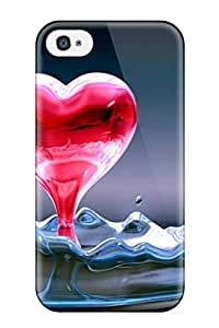 AmandaMichaelFazio Iphone 4/4s Well-designed Hard Case Cover Nice Heart Water Protector