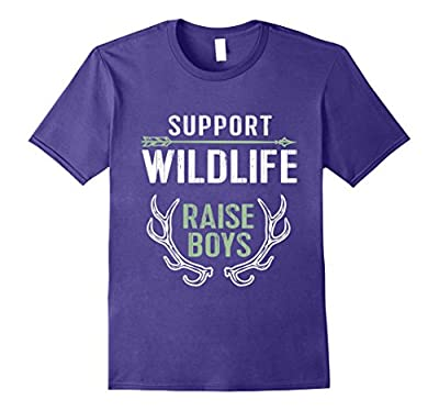 Support Wildlife: Raise Boys Funny TShirt for Moms & Dads
