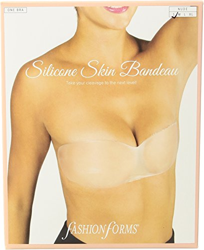 Fashion Forms Women's Silicone Skin Bandeau Bra Clear Medium ()