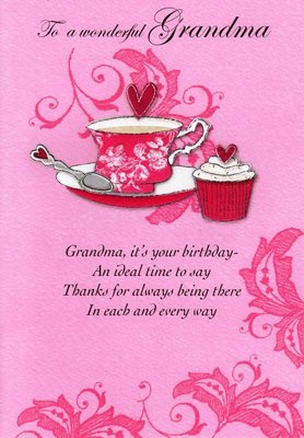 Amazon Second Nature Grandma Birthday Cards Poetry In Motion
