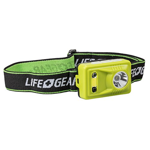 Life Gear USB Rechargeable Hands Free Motion Sensor Headlamp, Lime Green by Life Gear
