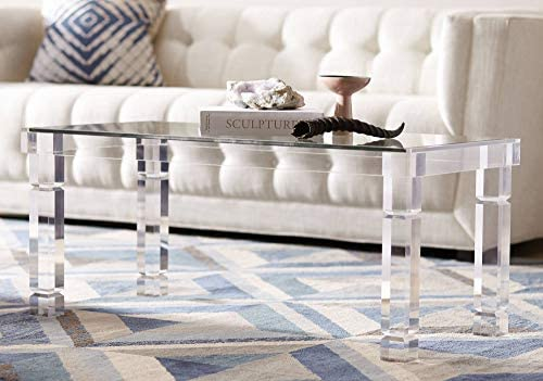 Marley 42″ Wide Clear Acrylic Rectangular Coffee Table