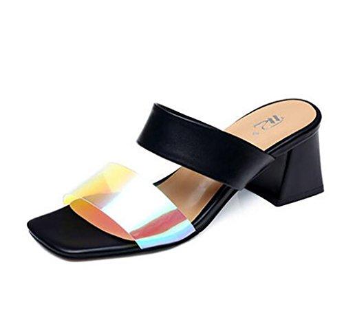 de A Femmes Couleur Sandales Sandales Sandales Glissement Sandales Plates Mode mi Sandales à A Chaussons nbsp; Hauts FAFZ Confortables 39 pour Sandales à Taille Talons waR1Yqqv