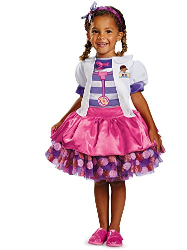 Disney Doc Mcstuffins Tutu Deluxe Toddler Costume, Medium/3T-4T -