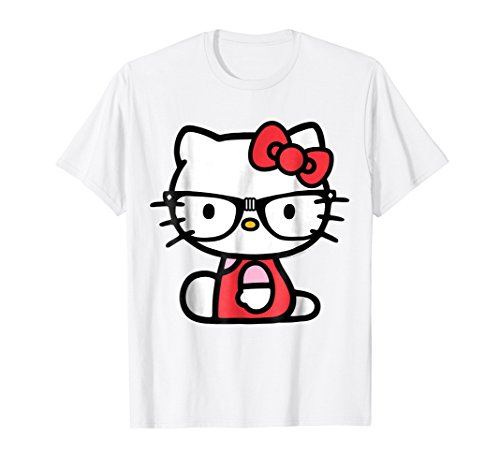 Hello Kitty Nerd Glasses Tee Shirt (Kitty Hello Adults For Clothes)