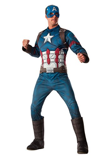 Rubie's Men's Marvel Captain America: Civil War Deluxe Costume, Standard