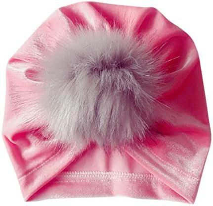 伸縮性キャップ,Dabixx ホット印刷ストレッチ布ヒョウ蝶結び子供ヘッドバンド赤ちゃんヘアバンド帽子 - ピンク