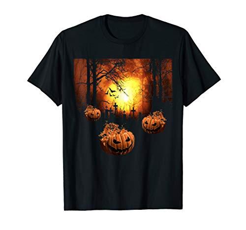 Spooky Scary Jackolantern Cemetery Horror Nights TShirt