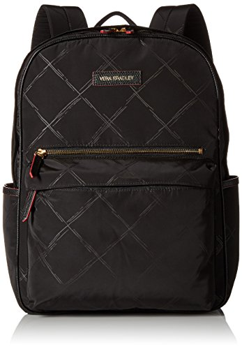 Vera Bradley Preppy Poly Large Backpack, Black, One Size by Vera Bradley