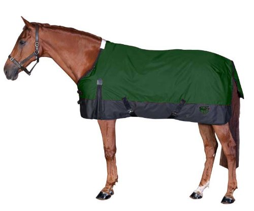 - Saxon 1200D Ripstop Standard Neck Lite 2 Tone Turnout Blanket with Gussets, Hunter/Black, Size 78