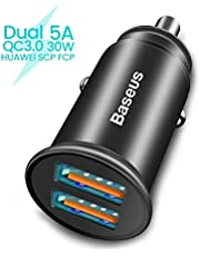 Baseus Auto Ladegerät, USB Kfz Ladegerät mit PD3.0 Port für iPhone X/XS/XR/XS Max, iPad Pro, QC 4.0 Port für Samsung Galaxy S9 / S8 / Note9, Huawei SCP FCP-Schnellladung
