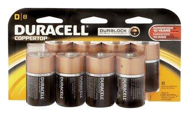 Duracell Alkaline Batteries Size D Card 8
