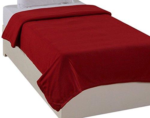 Super India Polar Fleece Polyester Single Blanket - Red