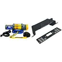 Superwinch 1145230 Terra 45 4500-Pound/2046 kg single line pull with hawse, handlebar mnt toggle, handheld remote, and synthetic rope & Extreme Max 5600.3148ATV Winch Mount for Mid-Size Polaris Ranger UTVs