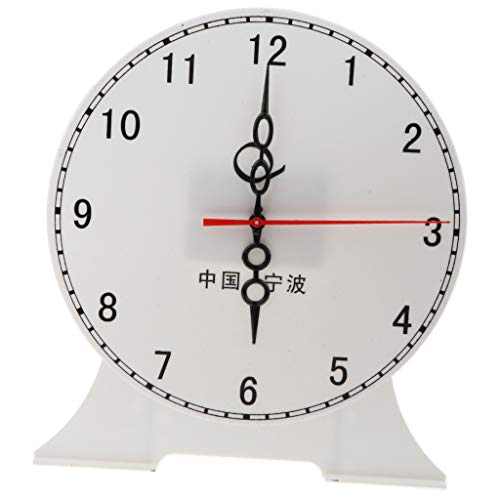 Fityle Kids Children's Teaching Time Clock Learn to Tell The Time Classoom Supplies - 12 Hour Clock B