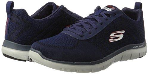 2 Po Sport Chaussures nvrd Advantage Skechers Flex Blue Golden 0 Homme qWnRET6aA