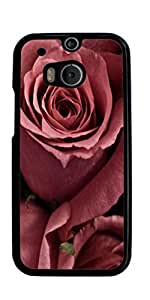 Rose Red Pink Flower Hard Case for HTC ONE M8 ( Sugar Skull ) by mcsharks