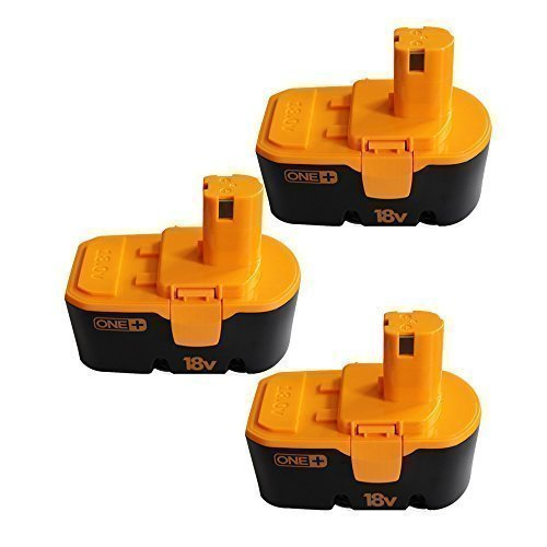 CREJOY Ryobi 18V 2000mAh Ni-Cd Replacement Battery For Ryobi Drill(Pack of 3) Review