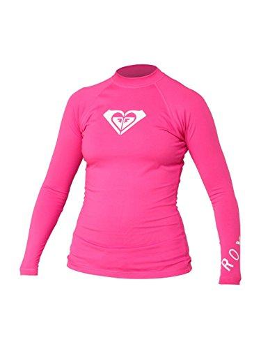 (Roxy Women's Whole Hearted Long Sleeve Rash Guard, Pink, 2-XXS)