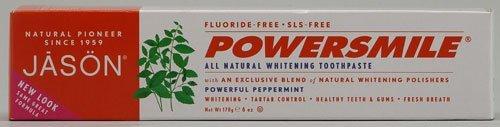 Jason Powersmile dentifrice, puissant menthe poivrée, 6 once (Pack de 4)