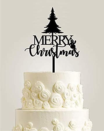 Christmas Cake Decorations.Merry Christmas Cake Topper Christmas Cake Decorations