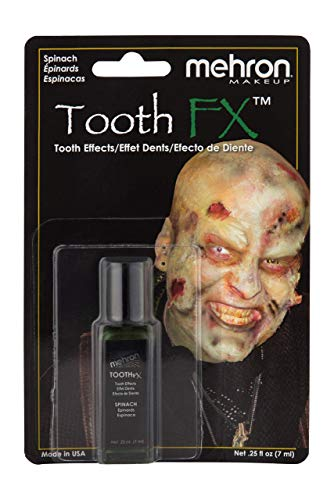Mehron Makeup Tooth FX with Brush (.25 ounce) (Spinach)
