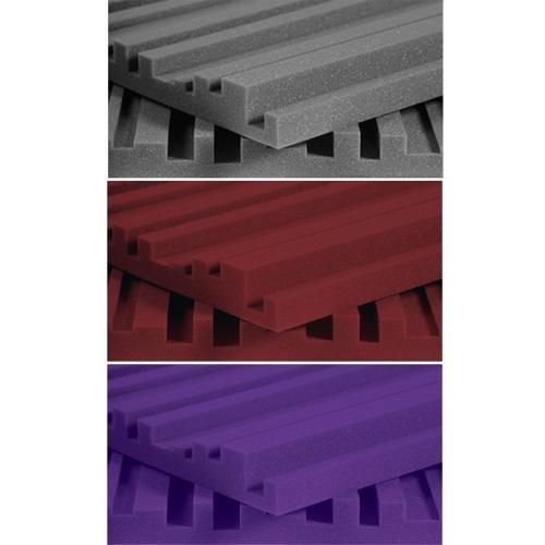 Auralex Acoustics Studiofoam Metro Acoustic Absorption Foam, 2'' x 24'' x 48'', 12-Panels, Charcoal by Auralex Acoustics