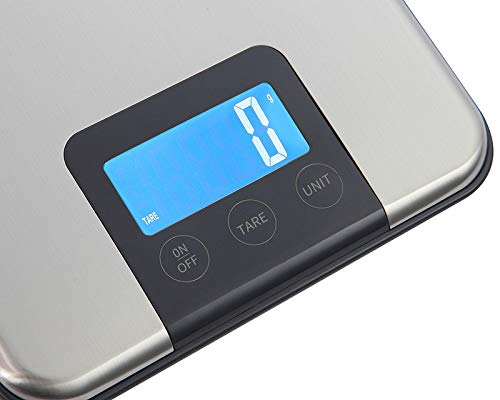 """""""Electronic Kitchen Scales, Digital Kitchen Food Scale, LCD Screen Display and Stainless Steel Platform, Capacity Range from 0.1oz (2g) to 33lbs (15kg) for Food Diet Cooking"""""""