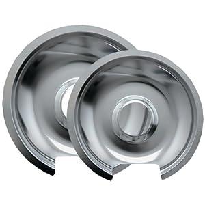 RANGE KLEEN 10562X Chrome Drip Pans, 2 pk (Style D) by RANGE KLEEN