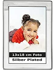 silberkanne Portraitrahmen Bilderrahmen 13x18 cm Fotos Silber Plated versilbert in Premium Verarbeitung