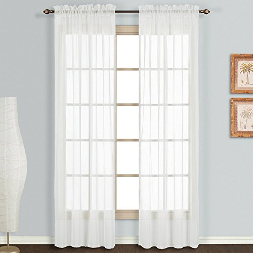 United Curtain Monte Carlo Sheer Pair of Window Panel, 118 x 45