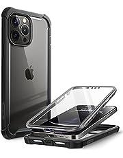 i-Blason Case voor iPhone 13 Pro 6.1 inch 2021 Editie [Ares] Transparant met Bumpercover met Ingebouwde screenprotector case -zwart