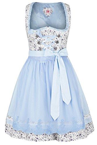 Damen Spieth & Wensky Dirndl mini Blumenmuster hellblau, blau, 38
