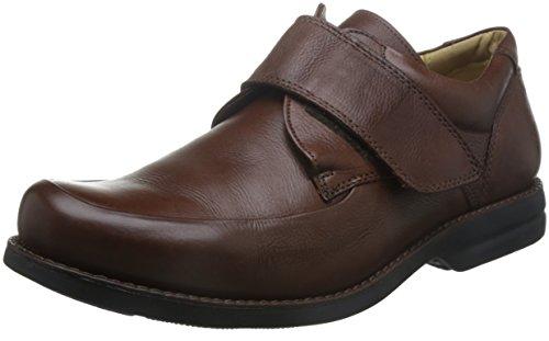 Y anatómico y balón de para hombre cómodo Co de piel sintética para zapatos de tapajós Velcro 454540 marrón
