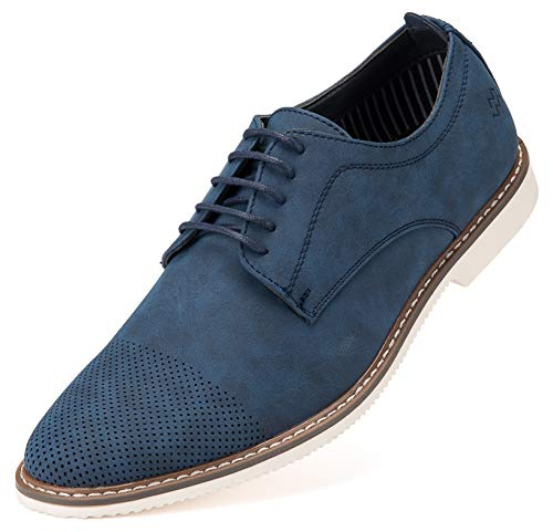 Marino Avenue Mens Casual Shoes, Suede Business Dress Shoes for Men - Royal Blue - 12 D(M) US