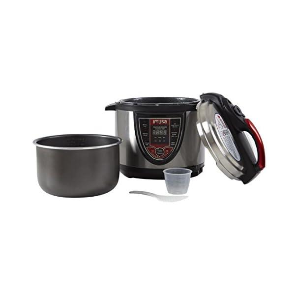 IMUSA USA 5Qt Electric Stainless Steel 5-Qt. Bilingual Digital Pressure Cooker, Red (Insta-Pot) 2